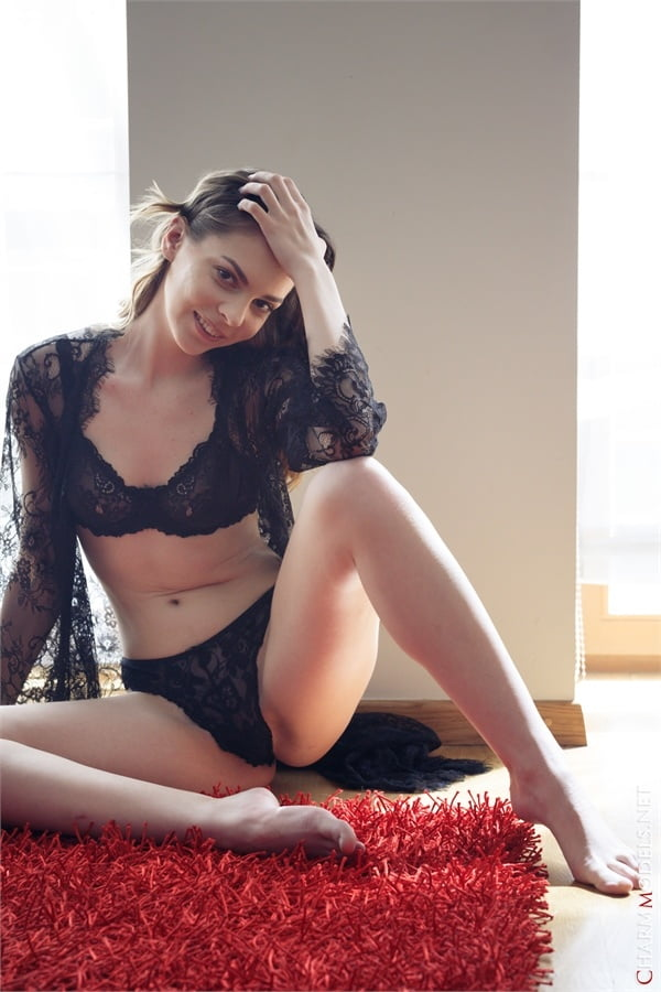 Amelia Miller elegant beauty in sexy lingerie